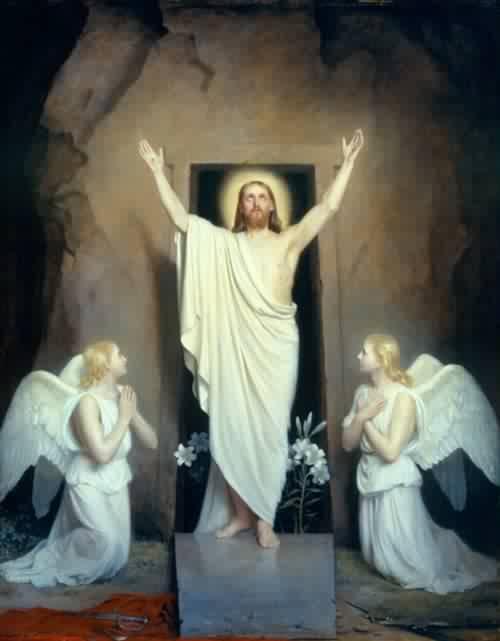 BEAUTÉS DE L'ÉGLISE CATHOLIQUE: SON CULTE, SES MOEURS ET SES USAGES; SUR LES FÊTES CHRÉTIENNES - Allemagne - 1857 Rc3a9surrection-du-christ