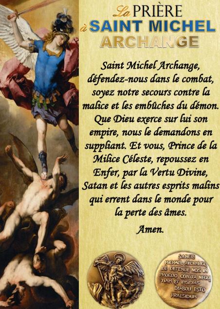 Prière à Saint Michel en français